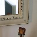Vintage hangulatú tükör, Egy míves fa keretet festettem le, koptattam meg ...