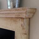 Rusztikus konyhai felíró tábla, Fából készített, tört fehérre festett, erős...