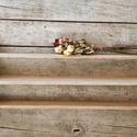 Fali téka, Konyhafelszerelés, Otthon, lakberendezés, Fűszertartó, Régi fa konyhai tékát újítottam fel. Annie Sloan krétafestékkel két színnel: fehérrel és világos dra..., Meska