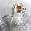Kívánság kulcstartó, Táska & Tok, Kulcstartó & Táskadísz, Kulcstartó, Mindenmás, Ebbe a különleges mini üveg kulcstartóba zártam az összes kívánságodat, és sok szeretettel átadok m..., Meska